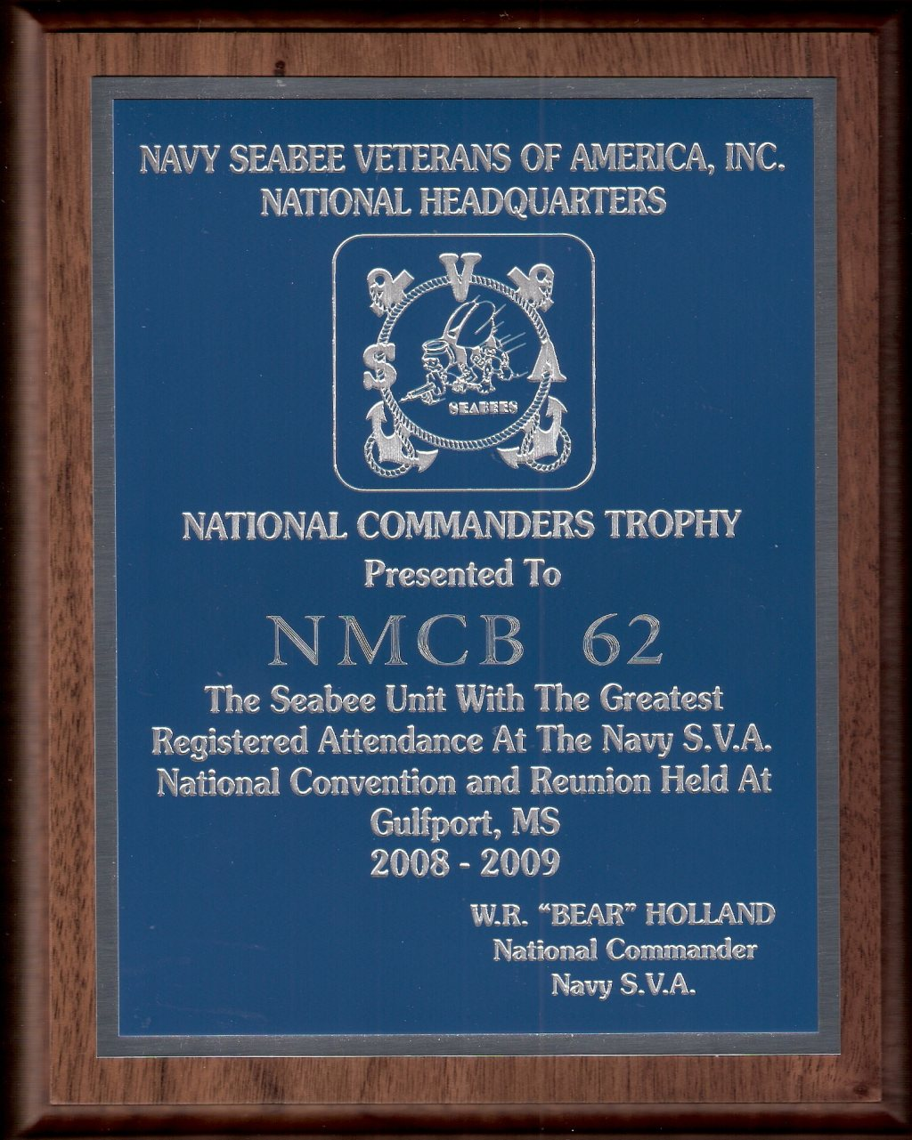 National Commanders Trophy October 2009 National Convention Gulfport, MS